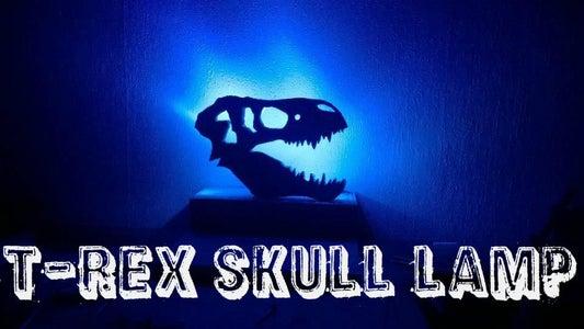 How to Make T-rex Skull Lamp