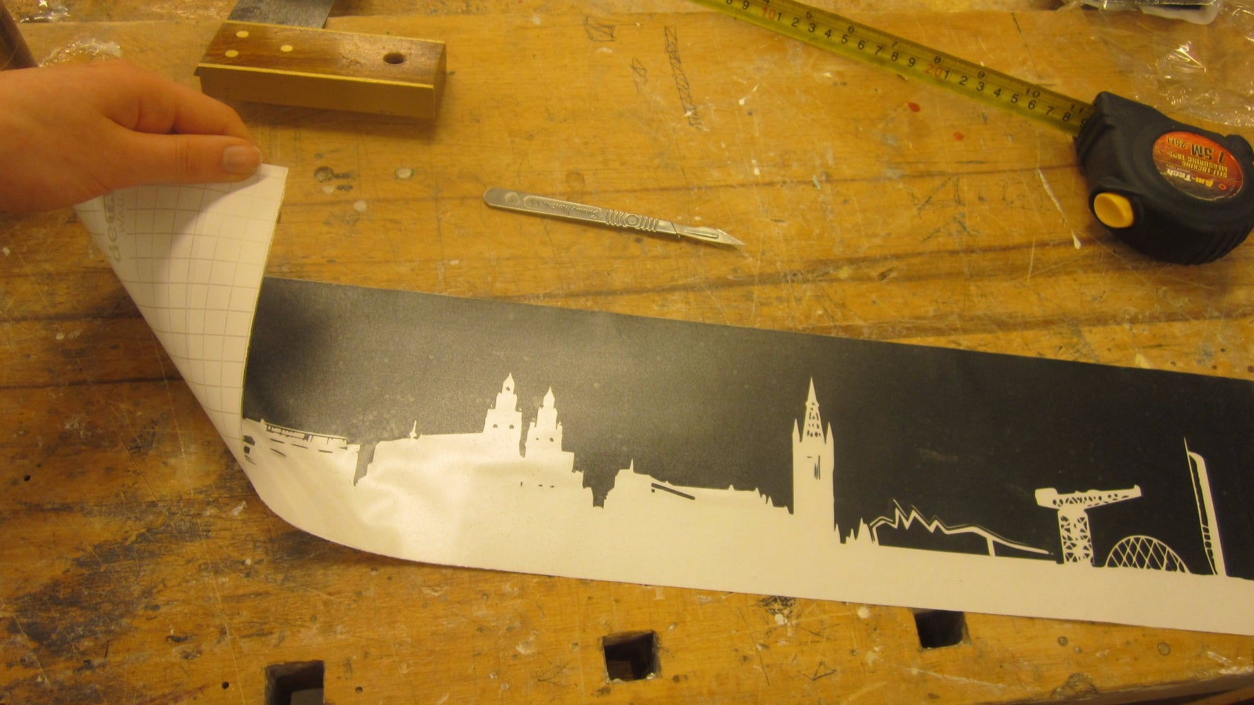 Cutting and Placing the Stencil