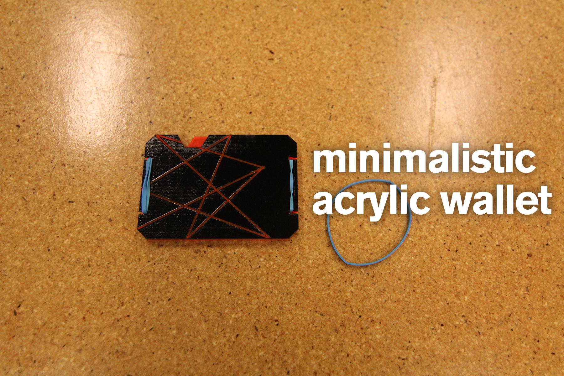 Minimalistic Acrylic Wallet.