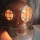 Diving Helmet Touch Lamp