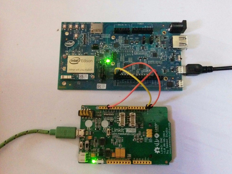 Intel Edison Talks to Linkit One