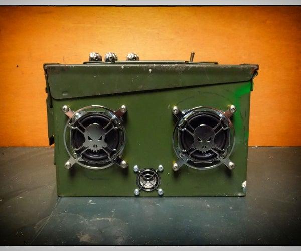 Ammo Box Speaker (with Bluetooth)