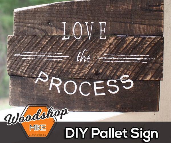 DIY Pallet Sign