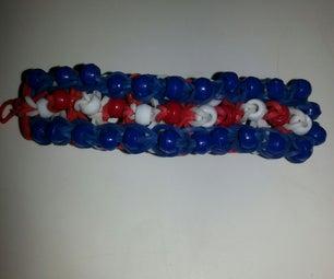 American Stripes Loom Bracelet
