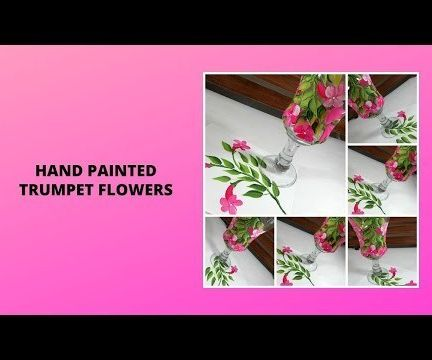 HAND PAINTED TRUMPET FLOWERS