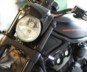 Harley Davidson VROD 55mm Custom Signal Mounts