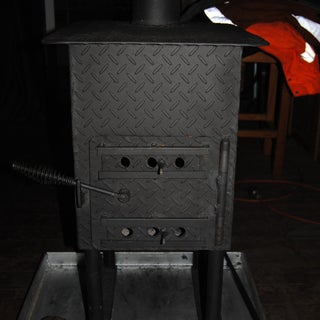 Woodburning Stove From Sheet Steel