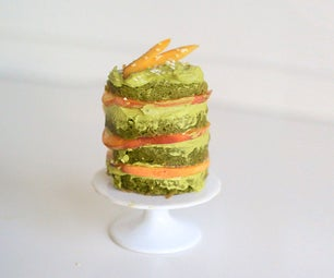 Layered Matcha Mug Cake With Peach