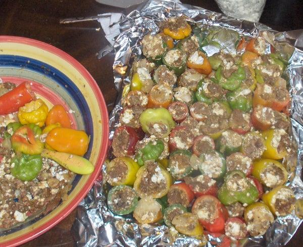 Jamaicajun Chipotle Rib&Ribeye Stuft Peppers