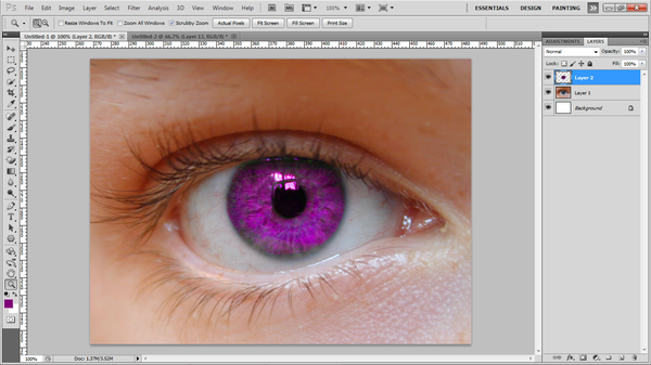 How to Change an Eye Color in Photoshop