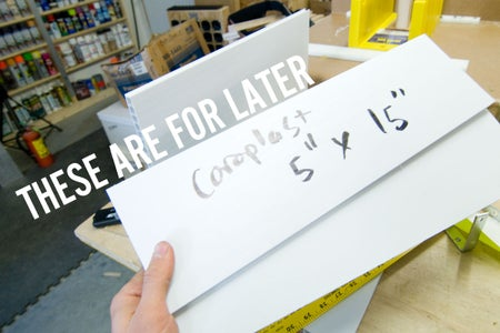 Bookholder 2: Cut the Coroplast