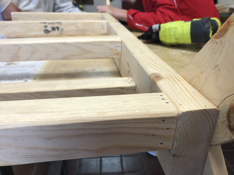 Attaching Vertical Pegs to Main Beam