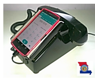 Docking Station, Retractable Cords & Working Handset for Your Cell Phone Built From an Old Phone.