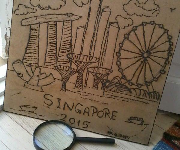 Singapore Solar Burn Art