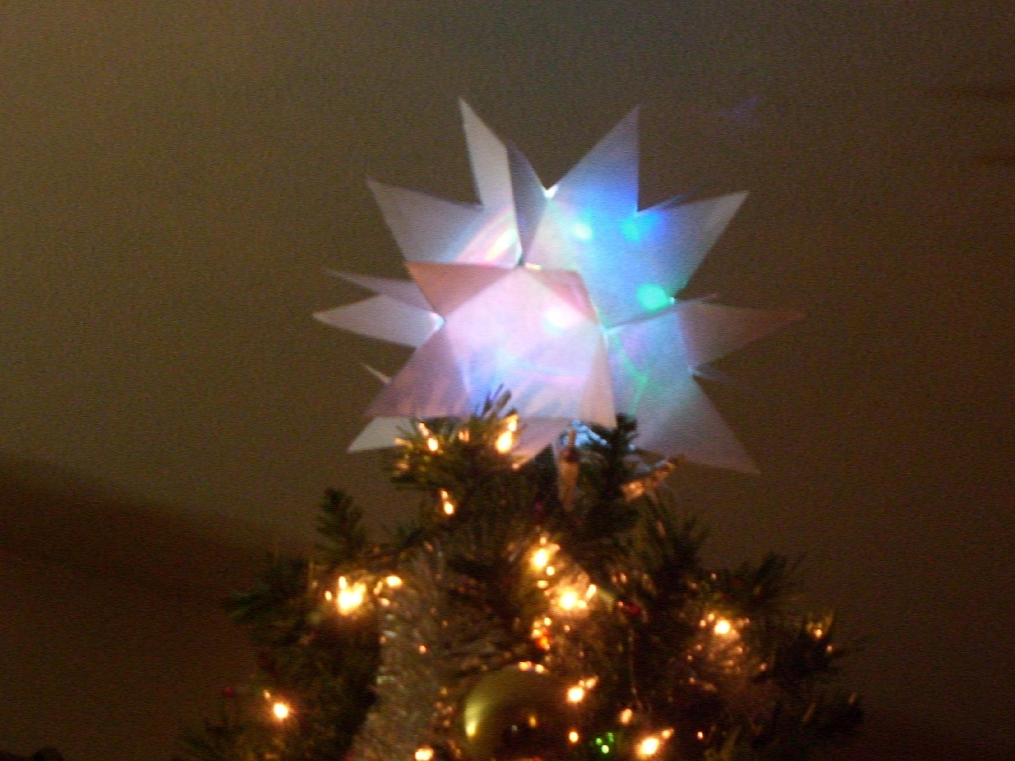Flashing Multicolor Christmas Tree Star
