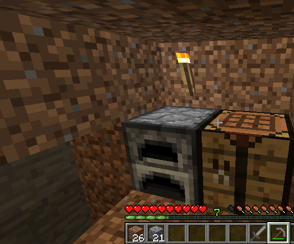 First House in Minecraft