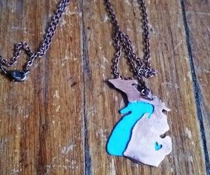 Copper Pipe Into Necklace