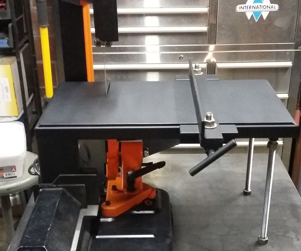 Modified Horizontal Bandsaw for Vertical Useage