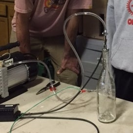 DIY Electron Accelerator: a Cathode Ray Tube in a Wine Bottle