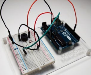 Optical Theremin With Arduino Uno