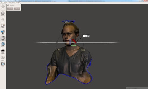 Import the Head Capture Into the Amazing MeshMixer.