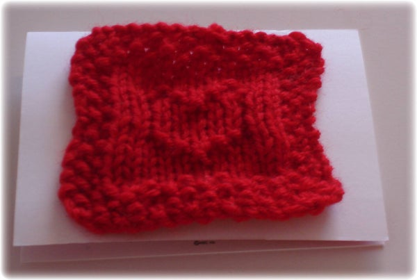 Knit a Heart in 15 Minutes for Valentine's Day