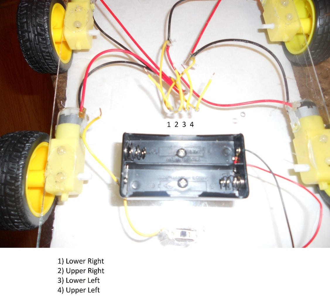 Feed the Motor Wires Through the Holes