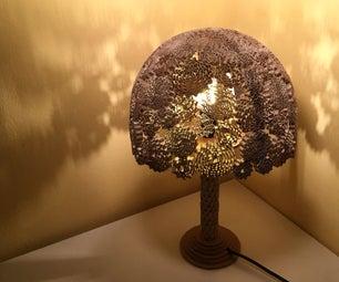 Corrugated Cardboard Lamp