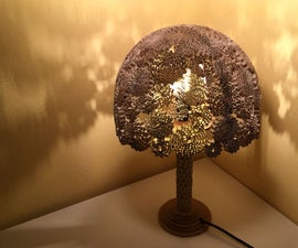 Corrugated Cardboard Lamp