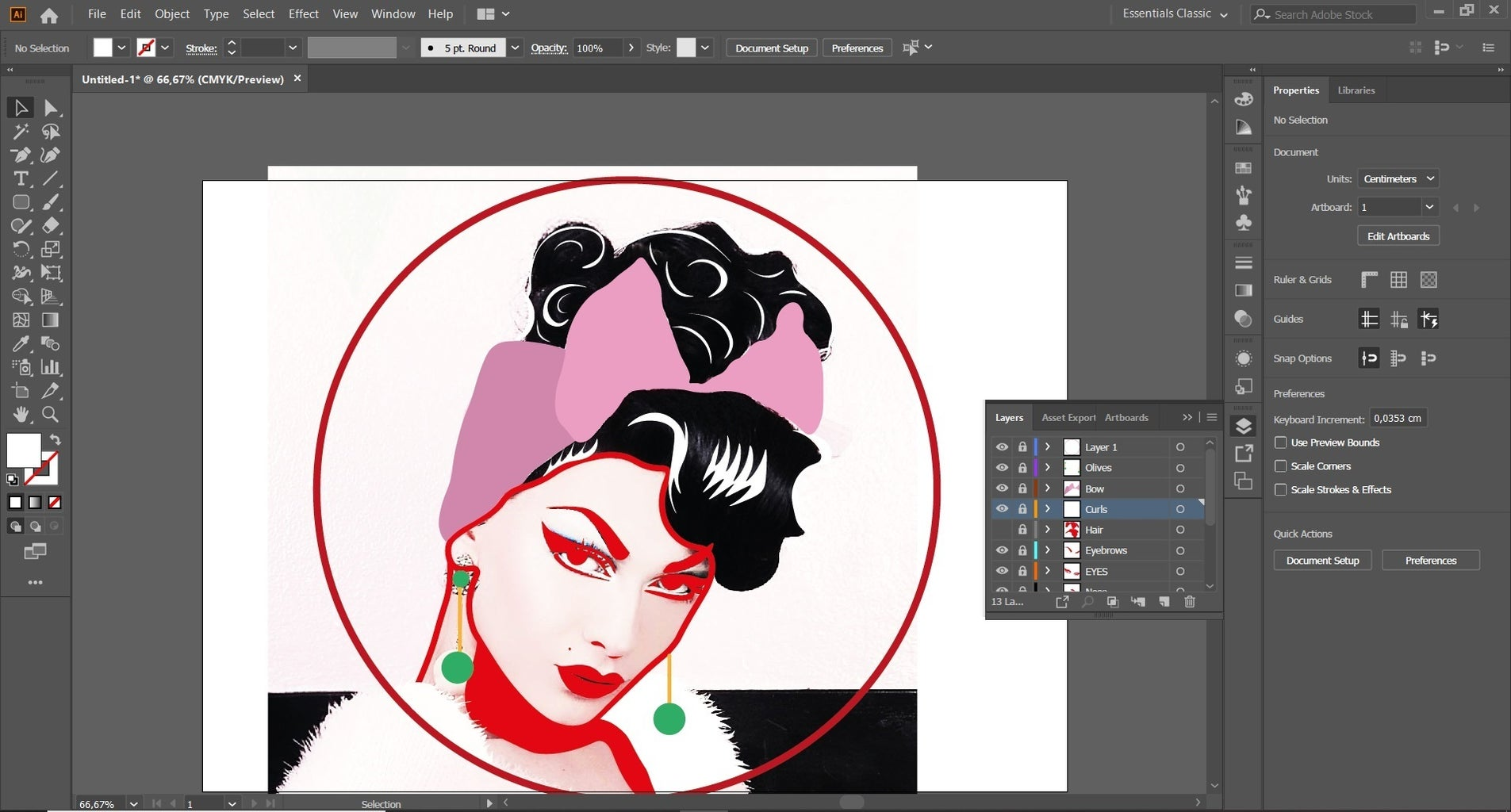 Design a Pizza Portrait (Make a Stencil With Illustrator)