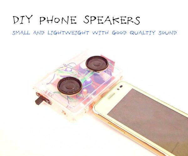 DIY Mini Phone Speakers