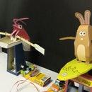 Papercraft Automata Race Game littleBits Circuit