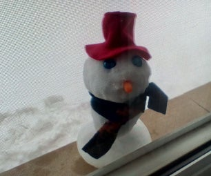 Mini Snowman in the Window