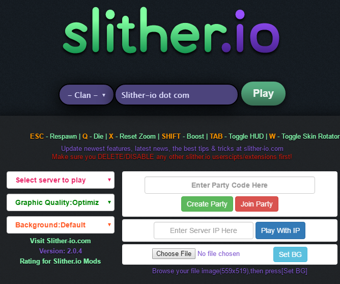 Slither.io MOD HACK CHEAT- COSTUMES - BOTS - SCROLLING - ZOOM - CLANS - SERVERS WITH FRIENDS