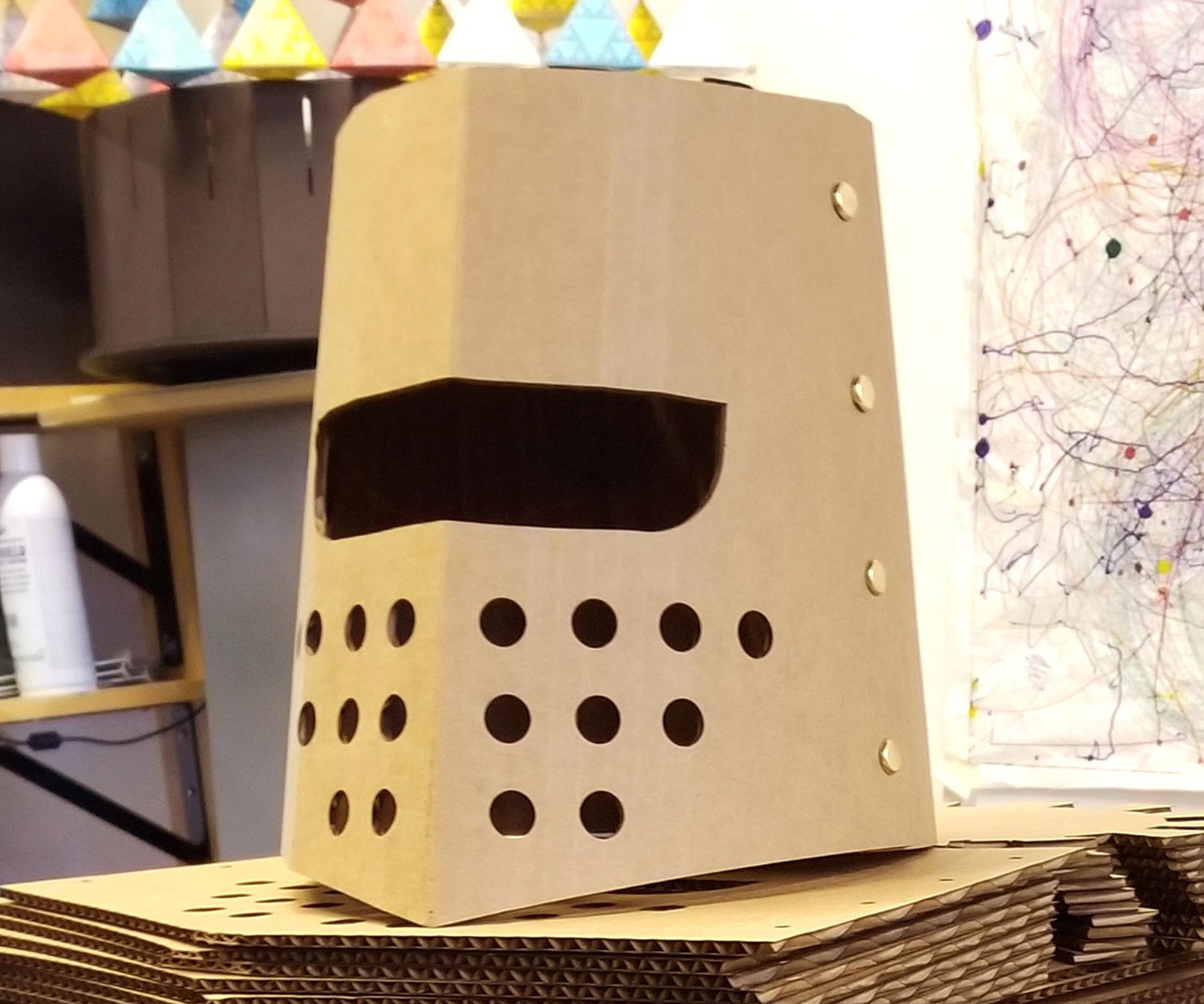 Cardboard Knight Helmet