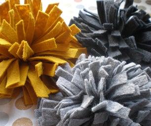 Felt Flower Brooch Tutorial