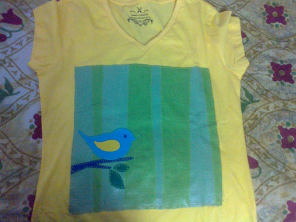 Felt Fabric T Shirt