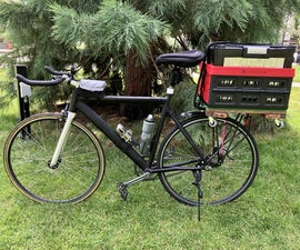 Magnetic Basket Rig for Road Bikes (Removeable & Foldable)