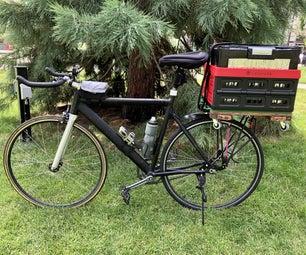 用于公路自行车的磁性篮子钻机(可拆卸和可折叠)