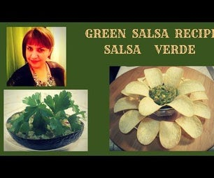 STYLISH RECIPE AND SERVING OF SALSA VERDE