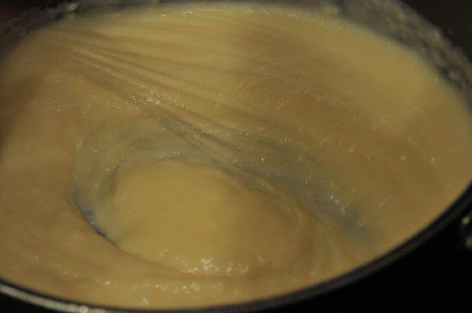 Place the Pan on Low Heat and Stir Continuously Until the Custard Thickens