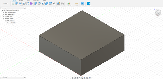 Starting the Design of the Coin Caddy