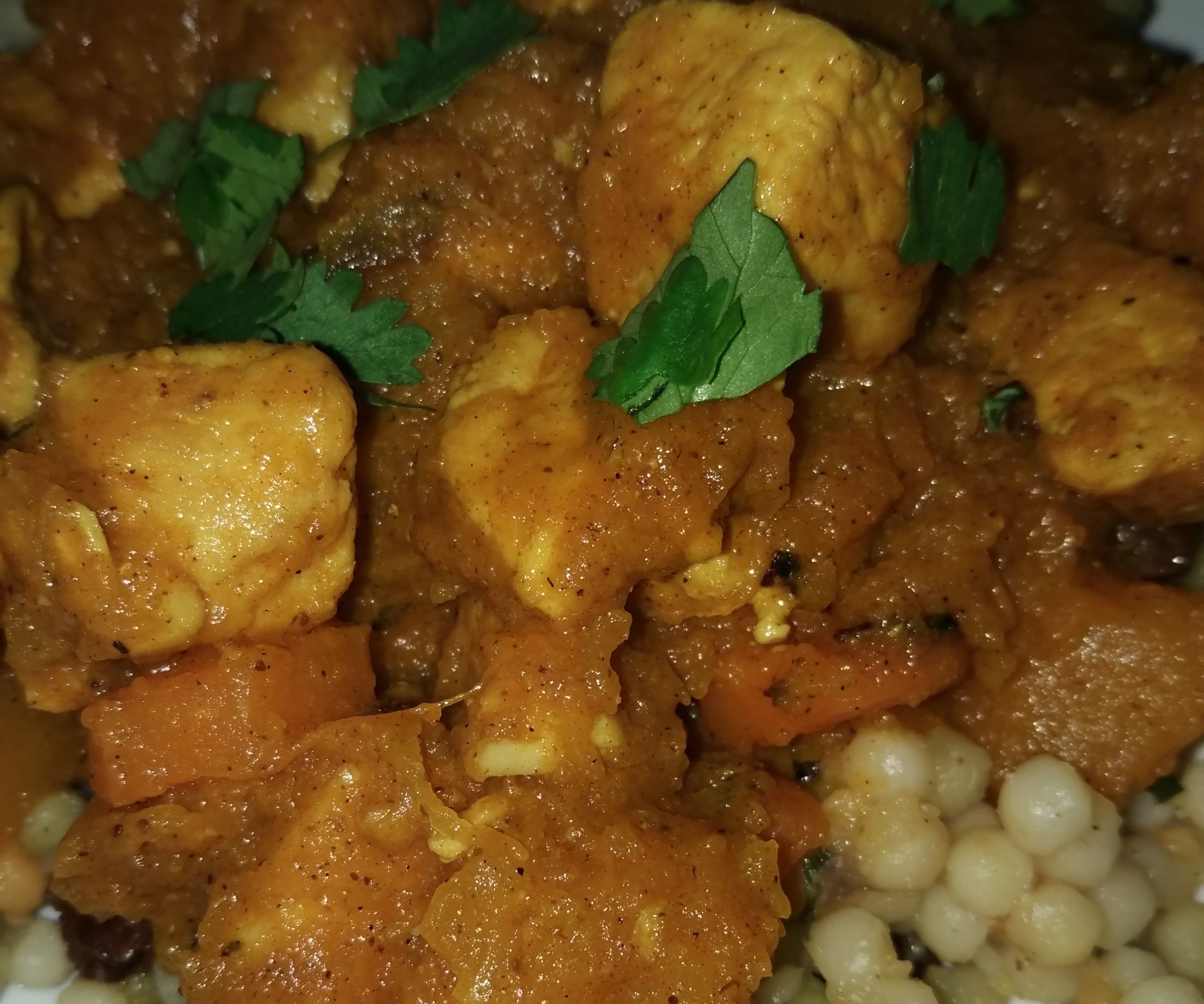 Chicken and Butternut Squash Tagine With Herbed Couscous: Or, a Delicious, Healthy Stew