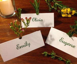 Herb Scented Placecards