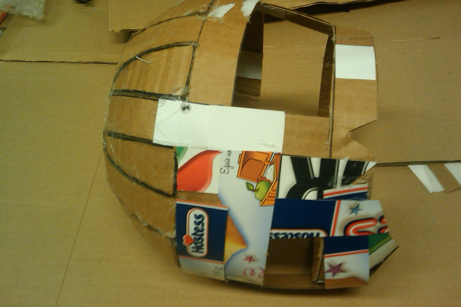 """Creating the """"base"""" of the Helmet"""