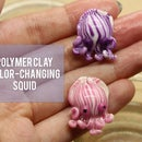 Purple Color-Changing Pajama Squid Figurine