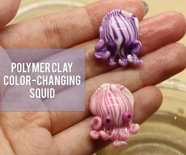 紫色改变睡衣鱿鱼雕像