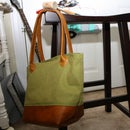Canvas and Leather Market Tote