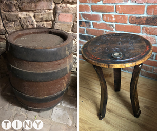 DIY Side Table From an Old Barrel