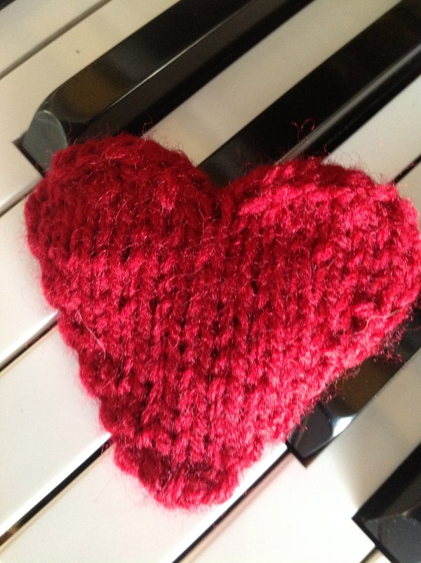 How to Knit a Valentines Heart